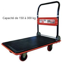 Chariot acier à dossier rabattable 150 et 300 kg