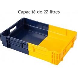 Bac euronorm empilable 22 litres hauteur 123 mm fond plein