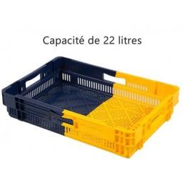 Bac euronorm empilable 22 litres hauteur 127 mm ajouré