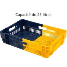 Bac euronorm empilable 25 litres hauteur 147 mm ajouré