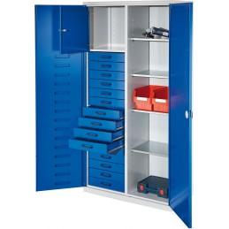 Armoire haute avec 15 tiroirs et 4 tablettes