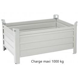 Caisse métallique tôlée 1200 x 800 x 700 mm