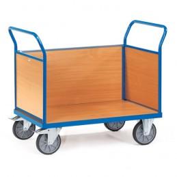 Chariot manuel à 3 ridelles bois