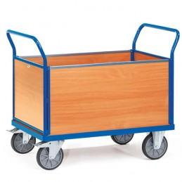 Chariot manuel à 4 ridelles bois