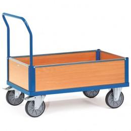 Chariot manuel caisse à 4 ridelles bois