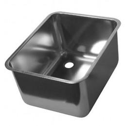 Cuves rectangulaires à souder en INOX AISI 304 sans trop-plein