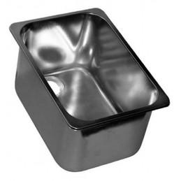 Cuve rectangulaire 13 litres à encastrer sans trop-plein