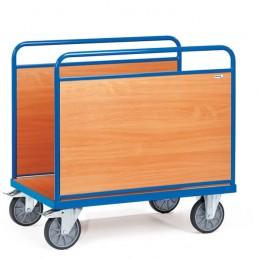 Chariot manuel 600 kg avec 2 ridelles latérales bois