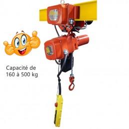 Palan électrique à chaîne avec chariot électrique 2 vitesse EABM levée 3 mètres