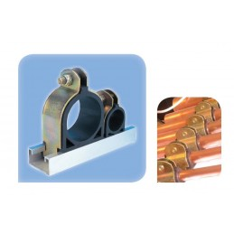 """Collier métal caoutchouc 1/4"""" 41 x 21 mm / 41 x 41 mm"""
