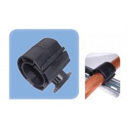 Collier métal caoutchouc 12-13 mm fixation sur rail de montage