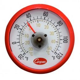 Thermomètre pour vitrine réfrigérée rond