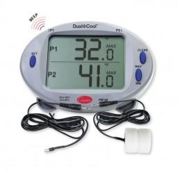 Thermomètre double affichage digital