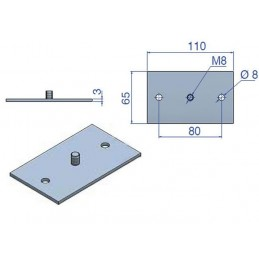 Base rectangulaire pour support antivibratoire à ressort