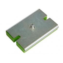 Base rectangulaire avec SYLOMER pour support antivibratoire