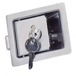 Fermeture PADDLE LATCH inox 84X68 mm avec clés
