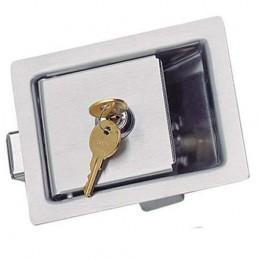 Fermeture PADDLE LATCH inox 124X98 mm avec clés