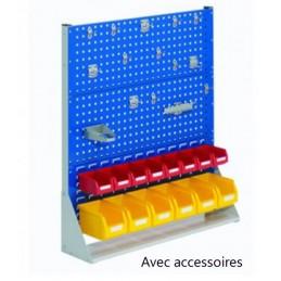 Rack fixe 1100 x 1000 avec 29 accessoires et 2 panneaux perforés