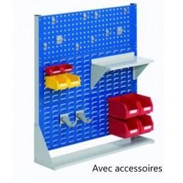 Rack fixe 1100 x 1000 avec 21 accessoires et 1 panneau perforé
