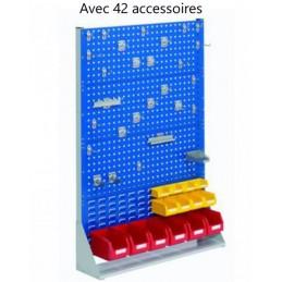 Rack fixe 1450 x 1000 avec 42 accessoires et 3 panneaux perforés
