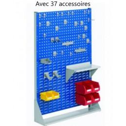 Rack fixe 1450 x 1000 avec 37 accessoires et 2 panneaux perforés