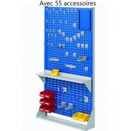 Rack fixe 1790 x 1000 avec 55 accessoires et 3 panneaux perforés