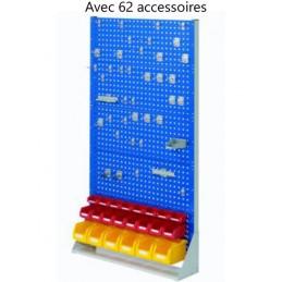 Rack fixe 1790 x 1000 avec 62 accessoires et 4 panneaux perforés
