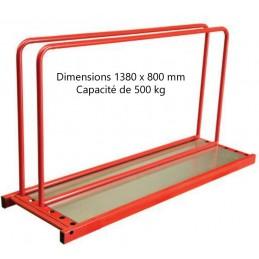 Rack à panneaux 1380 x 800 mm 500 kg