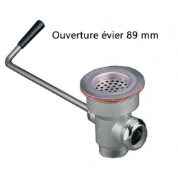 Evacuation d'évier avec levier rotatif courbé