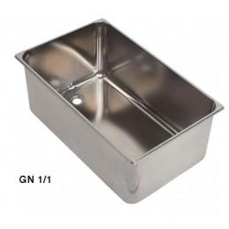 Bac inox GN1/1 bain marie avec ouverture 3/4 à souder