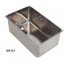 Bac inox GN2/1 bain marie avec ouverture 3/4 à souder