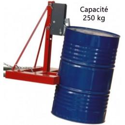 Pince à fût automatique 250 kg pour manipulation verticale