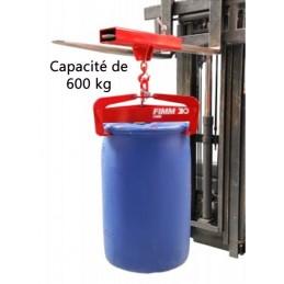 Pince à fût semi-automatique 600 kg