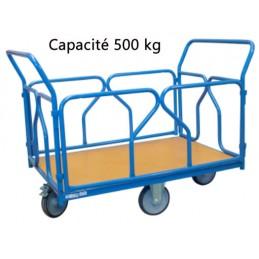 Chariot modulaire roues losange 1200 x 800 mm 500 kg
