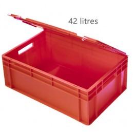 Caisse 42 litres pour gobelets avec couvercle