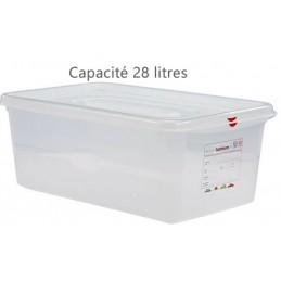 Bac alimentaire 28 litres GN1/1 avec couvercle