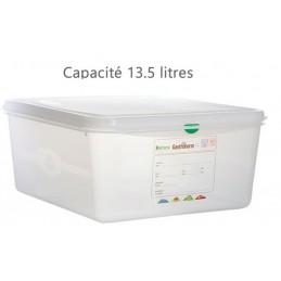 Bac alimentaire 13.5 litres GN1/3 avec couvercle profondeur 150 mm