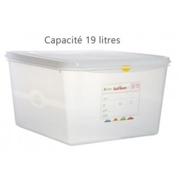 Bac alimentaire 19 litres GN1/3 avec couvercle profondeur 200 mm