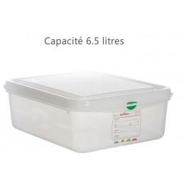 Bac alimentaire 6.5 litres GN1/2 avec couvercle profondeur 100 mm