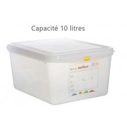 Bac alimentaire 10 litres GN1/2 avec couvercle profondeur 150 mm