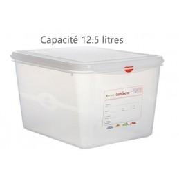 Bac alimentaire 12.5 litres GN1/2 avec couvercle profondeur 200 mm