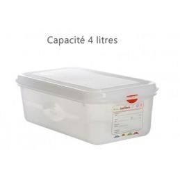 Bac alimentaire 4 litres GN1/3 avec couvercle profondeur 100 mm