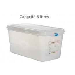 Bac alimentaire 6 litres GN1/3 avec couvercle profondeur 150 mm