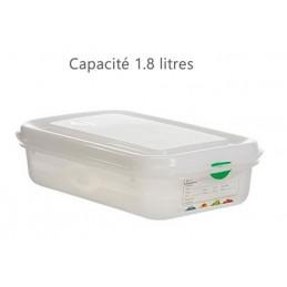 Bac alimentaire 1.8 litres GN1/4 avec couvercle profondeur 65 mm