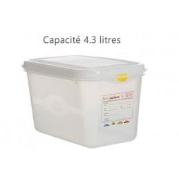 Bac alimentaire 4.3 litres GN1/4 avec couvercle profondeur 150 mm