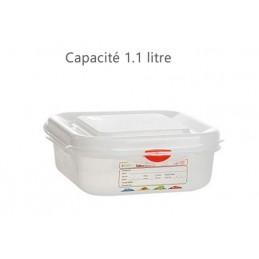 Bac alimentaire 1.1 litre GN1/6 avec couvercle profondeur 65 mm