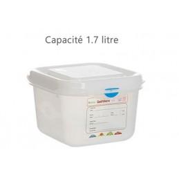 Bac alimentaire 1.7 litre GN1/6 avec couvercle profondeur 100 mm