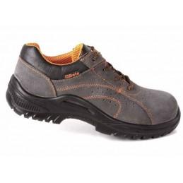 Chaussure basse type tennis aérée en croûte de velours souple