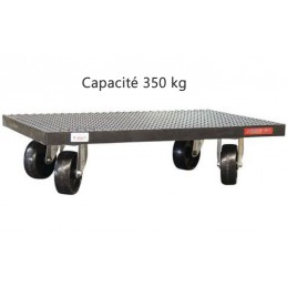 Plateau roulant 350 kg recouvert de caoutchouc