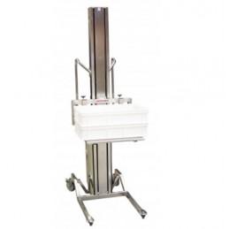 Gerbeur inox semi-électrique levée 1200 mm capacité 80 kg
